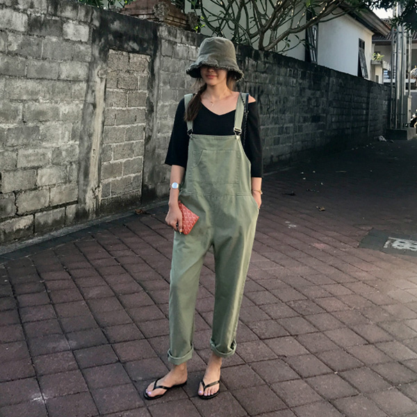 Low Square Neck Overalls