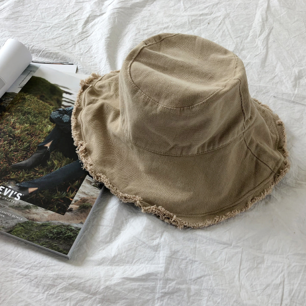 Fringed Brim Bucket Hat