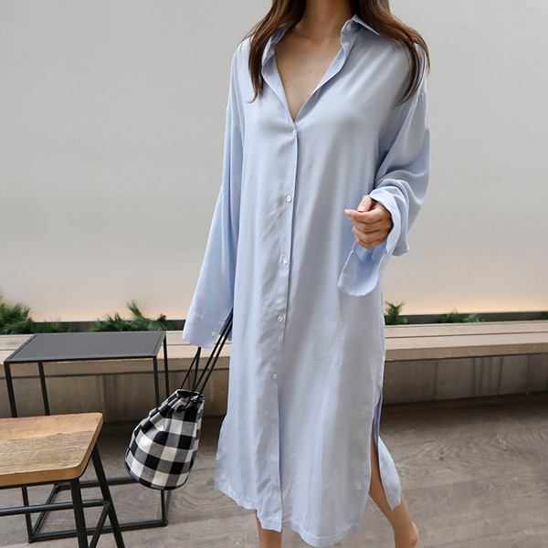 Extended Sleeve Loose Long Shirt