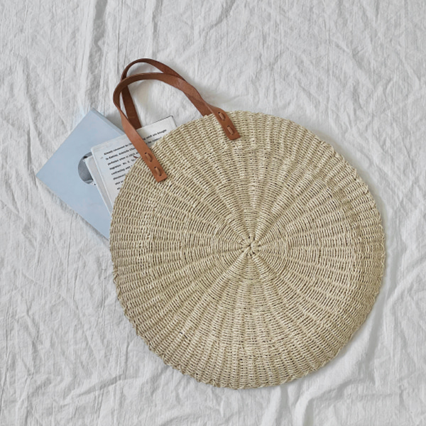 Open Top Round Woven Bag