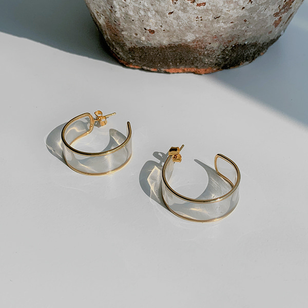 See-Through Band Open Hoop Earrings