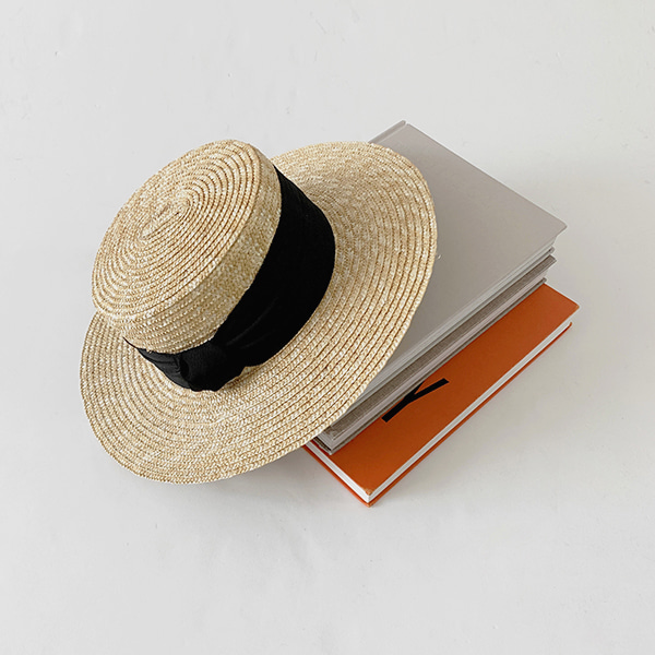 Knot Accent Wide Band Boater Hat