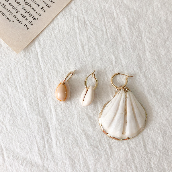 3-Piece Shell-Themed Earring Set