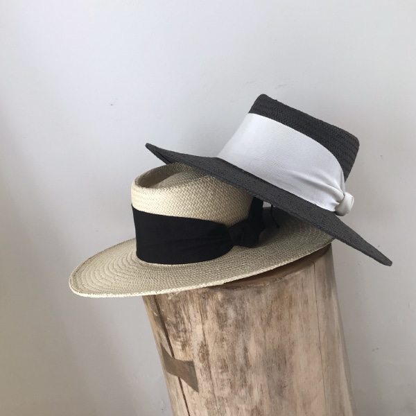 Wide Band Pork Pie Hat