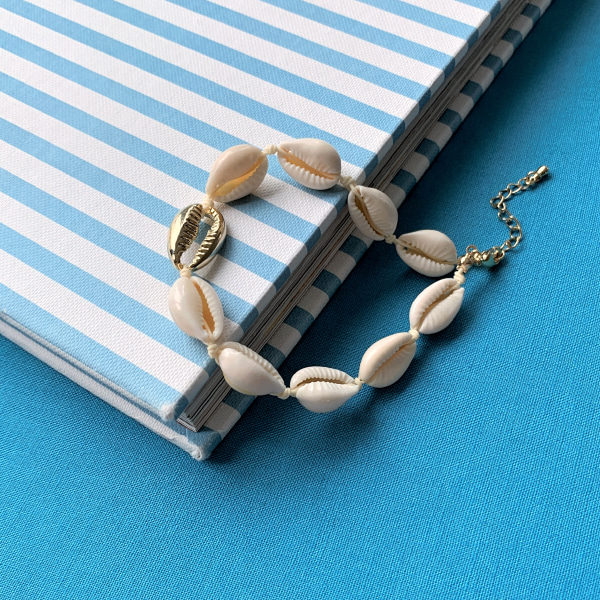 Gold-Tone Accent Seashell Anklet