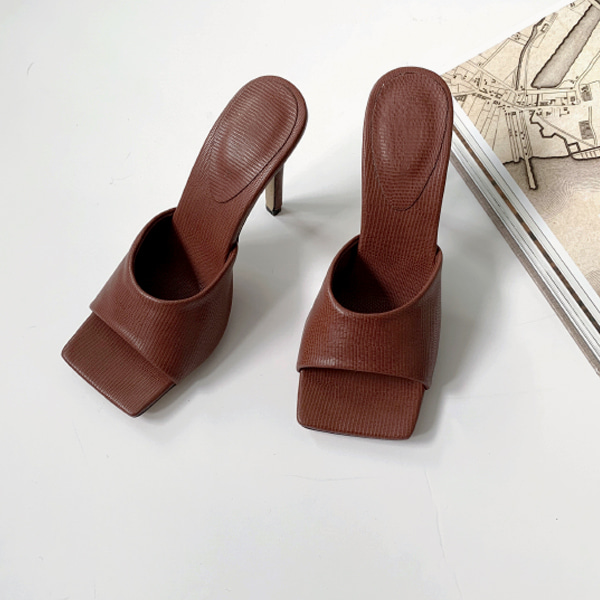 Open Square Toe Mules