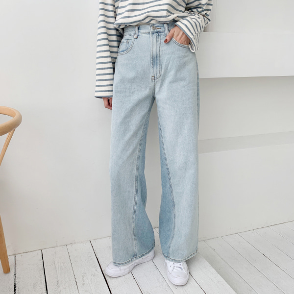 High Waist Baggy Denim Pants