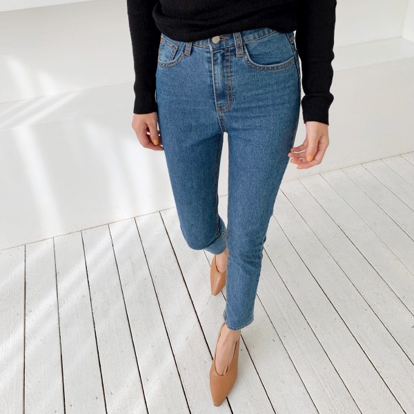 High Waist Slim Denim Pants