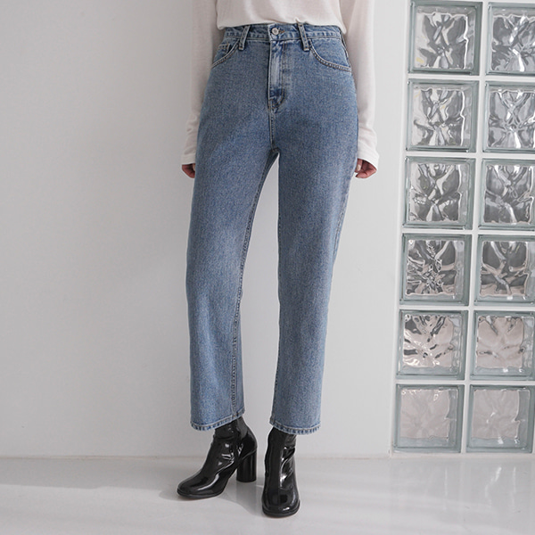 Loose Fit Straight Cut Denim Pants