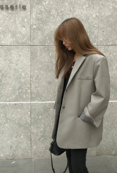 Extended Sleeve Solid Tone Jacket