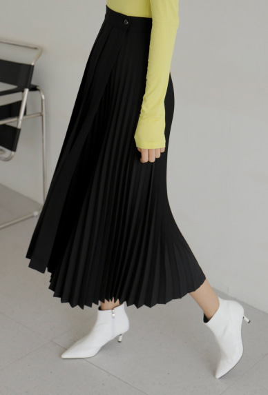Mix Pleat Wrap Skirt
