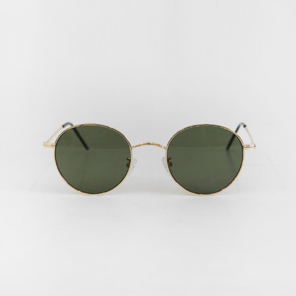 Wire Frame Rounded Sunglasses