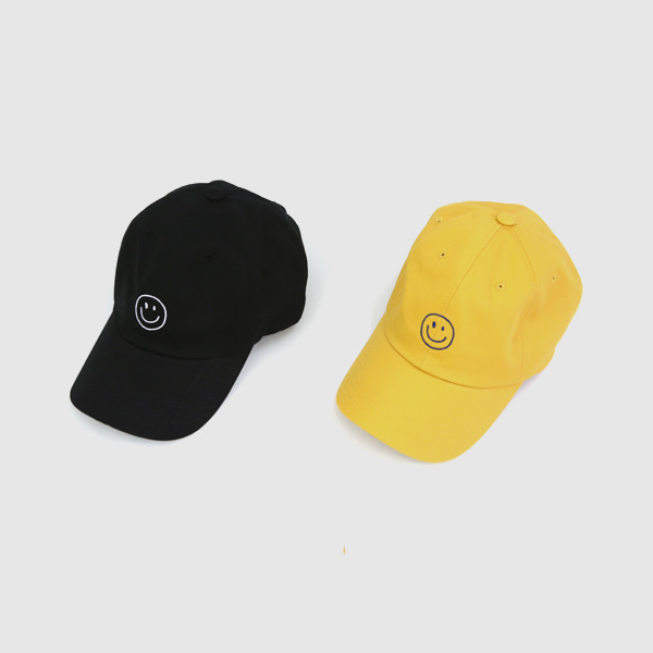 Embroidered Smiley Baseball Cap