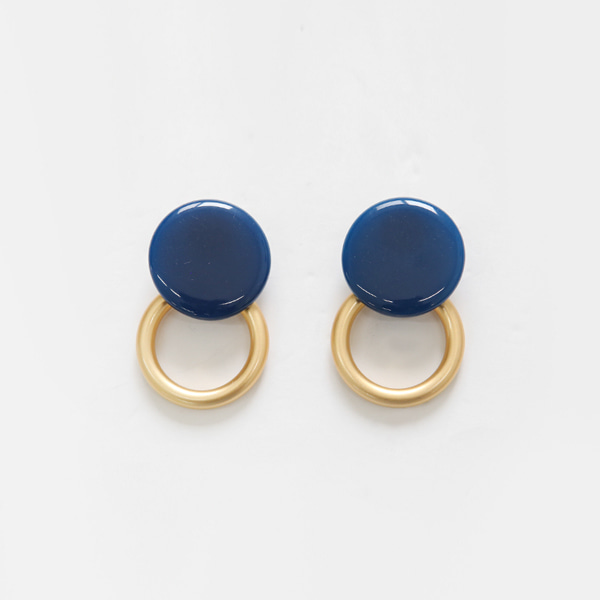 Hoop Accent Disc Stud Earrings