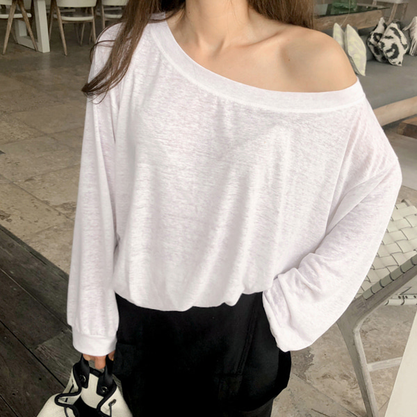 Wide Neck Loose Sweatshirt