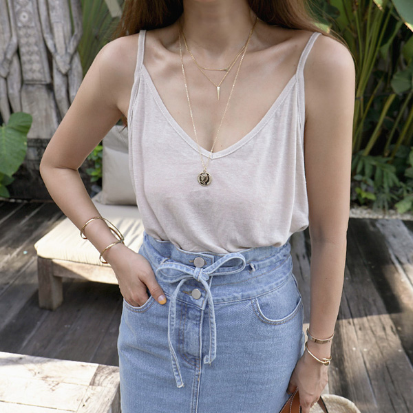 V-Neck Loose Cami Top