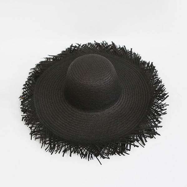 Fringed Edge Floppy Brim Hat