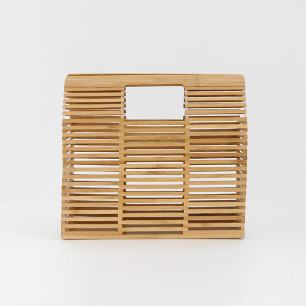 Structured Cage Wooden Handbag