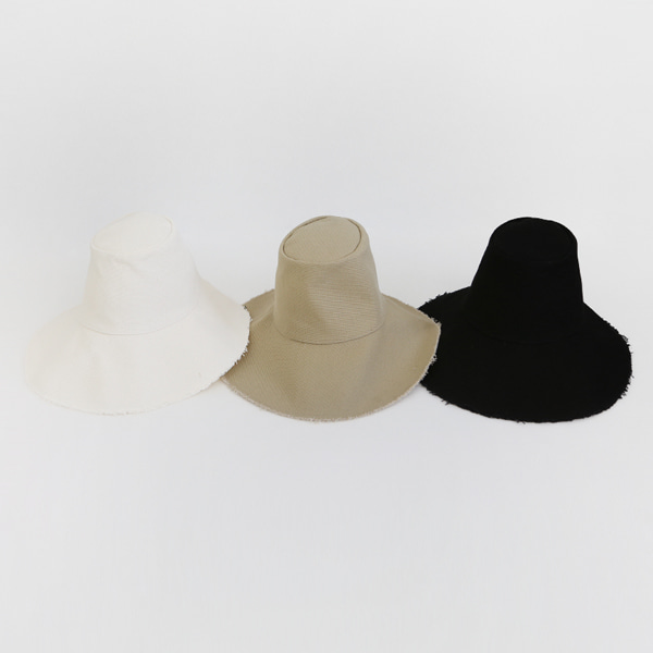 Fringed Edge Wide Brim Hat