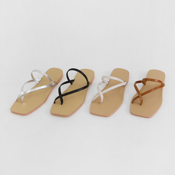 Toe Loop Slim Strap Sandals