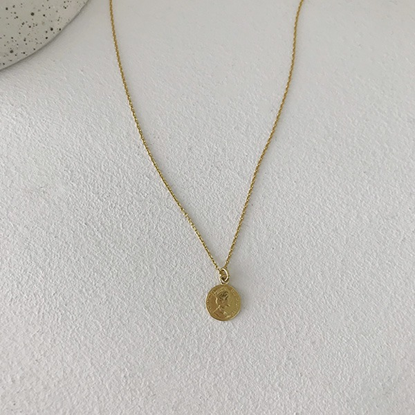 Coin Pendant Gold-Tone Necklace