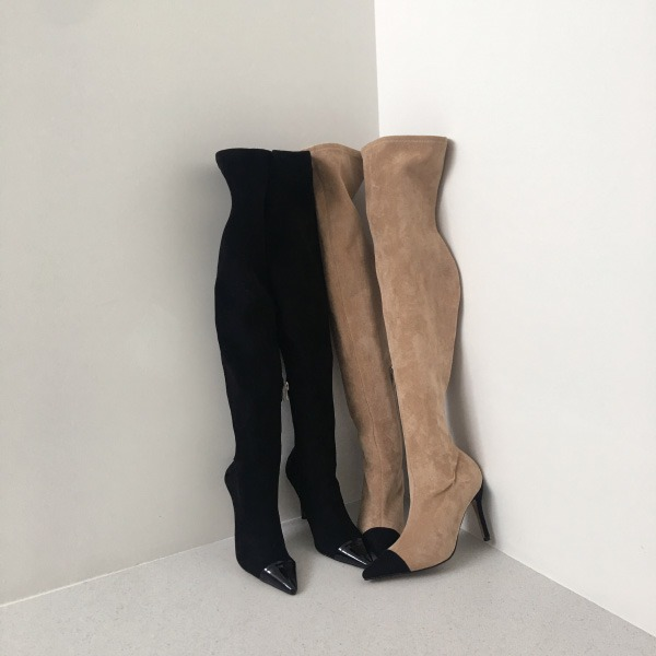 Pointed Toe Over-The Knee Boots