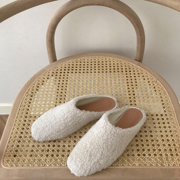 Boucle Open Back Slippers