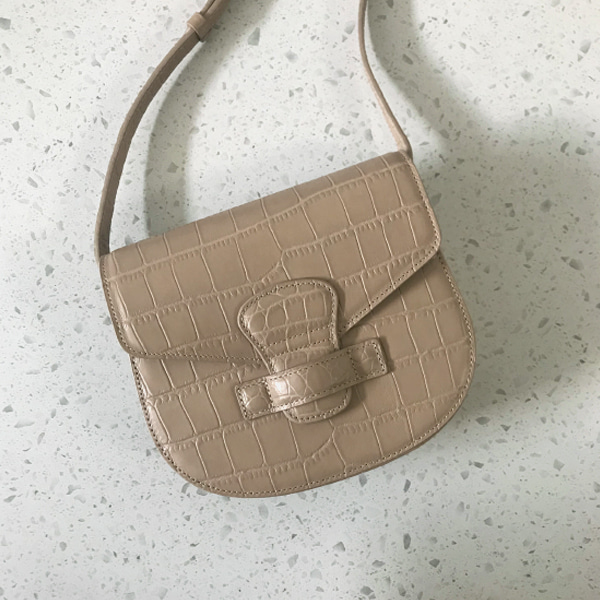 Croc Texture Saddle Bag