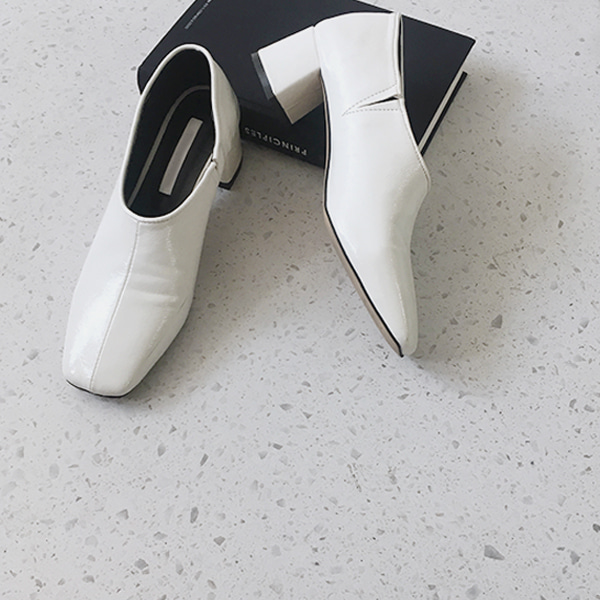 Square Toe Block Heel Glove Shoes